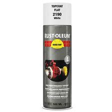 X 15 Industriel Rust-oleum Blanc Mate peinture en Aérosol Solide Chapeau 500ml