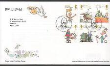 GB 2012 FDC Roald Dahl Tallents House edinburgh postmark set stamps