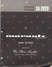 Marantz Service Manual Model sa 2020 car stereo radio amplifier Original Repair