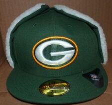 NEW NFL Green Bay Packers FITTED Dog Ear Cap Hat Flat Brim 7 3/8 New Era NEW NWT