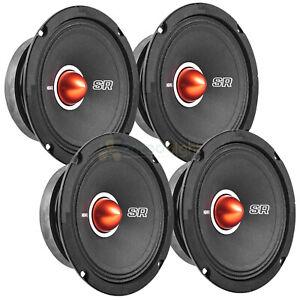 "4 Pack Memphis Audio 6.5"" Mid Range Speaker 250 Watt Max Street Reference SRXP62"