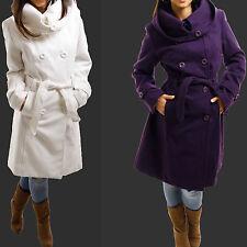 Damenjacken & -mäntel mit Wollmischung ohne Muster und Knöpfe für Business