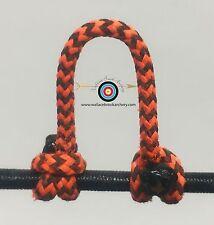 3 Pack- Speckled  Flo Orange/Black  Archery Release Bow String D Loop, BCY #24