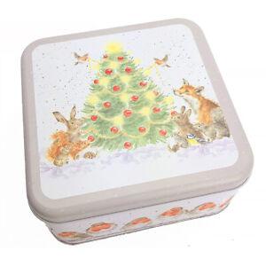 16cm Wrendale Deigns A Woodland Christmas Themed Gift Tin
