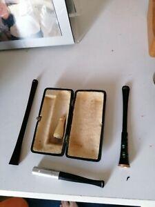 Vintage Cheroot/cigar Holder And Case
