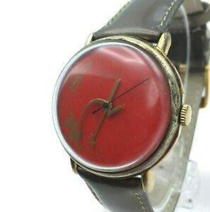 RED RAKETA Gold Men USSR Mechanical Rare Hammer Sickle Retro Watch Propaganda SU