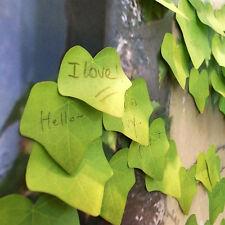 Cute Simulation Green Leaf Sticky Note Memo Sticker Post It Bookmark Desk