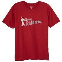 New Ebbets Field Flannels Seattle Rainier's Sz Large TShirt