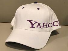 YAHOO White Structured White Purple Baseball COOL Golf Bar Pub Hat Cap   NEW