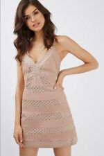 BNWT Topshop Premium Nude Studded A-line Bandage Dress Size 6 8 Party Night Out
