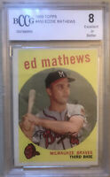 Ed Mathews 1959 Topps #450 BCCG/BGS NM-MT 8