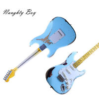 ST Style Handmade Electric Guitar Vintage Tuner C Shape Neck Heavy Relic Blue