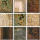 """12W""""x12H"""" each RIGHT ACTION II by CHRIS DONOVAN - OVERALL 36W""""x36H"""" 9PC CANVAS"""