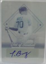 2013 Leaf Best Of Baseball Javier Baez SP Autograph Cyan Printing Plate # 1 / 1