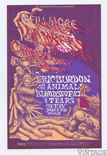 Bill Graham 132 Postcard Ad Back Eric Burdon & the Animals 1968 Aug 6
