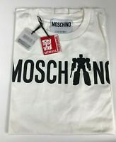 $250 AW17 Moschino Couture Jeremy Scott Transformers Logo White Tshirt *RARE*