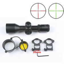 Tactical 3-9x40 V Riflescope Red/Green Dot Mil-dot Dual illuminated Laser Sight