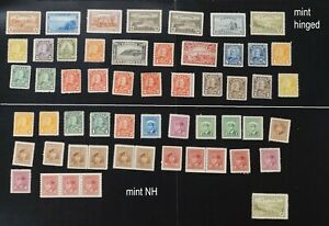 Canada lot o F/VF mint NH + hinged stamps with VERY HIGH cat values (d002)