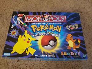 Vintage 1999 POKEMON Monopoly Board Game Collectors Edition Complete