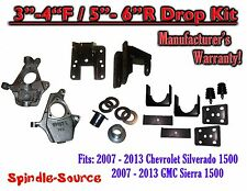 "2007 - 13 Chevy Silverado GMC Sierra 1500 3/5"" to 4/6"" Fully Adjustable DROP KIT"