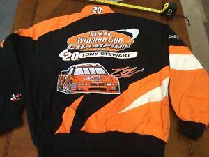 Vintage NASCAR 2002 Tony Stewart #20 Championship Jacket Jh Design NWT Large NOS