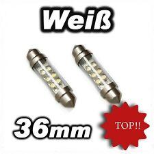 2 x 6 LED Sofitte 36 mm Xenon Weiß Soffitte TOP ! 12v