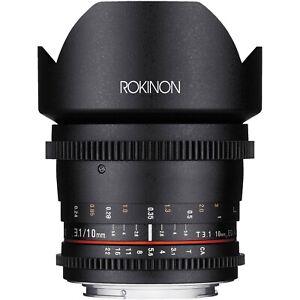 Rokinon Cine DS 10mm T3.1 Cine Wide Lens for Nikon Digital SLR -