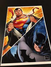 BATMAN & SUPERMAN PRINT HAND SIGNED by ETHAN VAN SCIVER