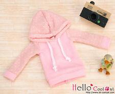 ☆╮Cool Cat╭☆83.【NP-B13】Blythe/Pullip Hoodie Top(Long Sleeves)# Dot Pink