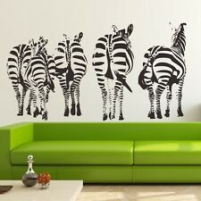 Zebra Family Wall Decals Removable stickers Home decor DIY Kids Vinyl art mural
