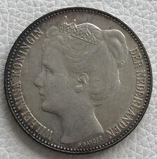 1898 Netherlands 2 1/2 Silver Gulden Crown P.Pander Scarce.
