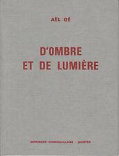 GE AEL / D'ombre et de lumière . Sonnets Imprimerie cornouaillaise. Quimper 1976