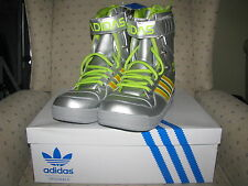 ADIDAS ORIGINALS ObyO JEREMY SCOTT SNOW BOOT Leather Winter Skiing Leopard Wing