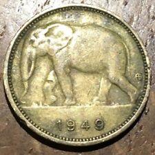 PIECE DE 1 FRANC CONGO BELGE 1949 ÉLÉPHANT (506)