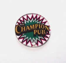 Bally CHAMPION PUB Original NOS Pinball Machine Plastic Promo KeyChain Game Logo