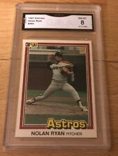 1981 Donruss Nolan Ryan #260 Astros Graded GMA 8
