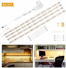 4*0.5M 30LED Kit de Iluminación Bajo Armario Tira de Luz Armario Contador Cocina Estante