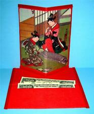 Japanese Rice Paper Wallet Checkbook Cover Two Young Ladies Decorative Gift Box