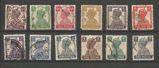 Inde Anglaise 1939-43 George VI 12 timbres oblitérés /T5349