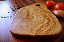 Schneidebrett / Frühstücksbrett mit Griff aus Olivenholz 25 cm