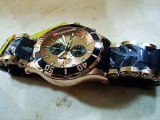 Invicta Men's 50mm Sea Spider Chrono 18K Rose Gold Plated SS Bracelet New Watch