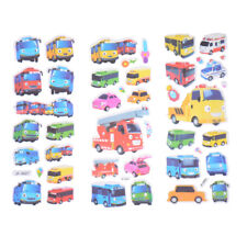 6 Sheets Bus Car Scrapbooking Bubble Stickers 3D Cartoon Stationery Stickers M&C