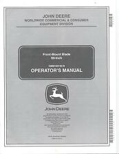 "John Deere Blade 60"" Operators Manual for Buck or Trail Buck ATV's OMM150140"