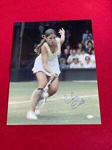 "Chris Evert, ""Autographed"" (JSA) 16 x 20  Photo (Scarce / Vintage)"