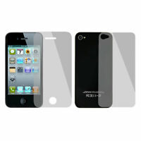 2 in 1 Set Anti Glare Clear Plastic LCD Screen Protectors for iPhone 4 4S