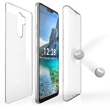 For LG G7 ThinQ Transparent 360 Full Body Front Back Screen Protector Cover Case