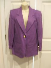 NWT $149 SAVANNA  100% WOOL IRIS PURPLE  car coat jacket size 4