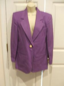 NWT $149 SAVANNA  100% WOOL IRIS PURPLE  car coat blazer jacket size 4