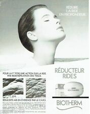 PUBLICITE ADVERTISING 116  1988  les cremes cosmétiques Biotherm