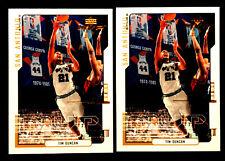 TIM DUNCAN ~ 2000 Upper Deck MVP #152 ~ 2 CARDS ~ 2O2O NBA HALL OF FAME INDUCTEE